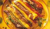 Tarte fine de foie gras de canard aux poivrons