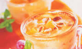Brunoise d'abricot au sabayon de provence et ses pignons de pin