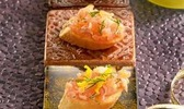 Bouchées croustillantes de tartare de saumon