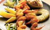 Brochettes exotiques croustillantes aux crevettes