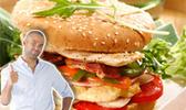 Hamburger de poulet grillé de tony parker