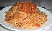 Spaghetti à la bolognaise- sicilienne
