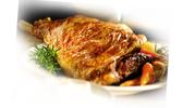 Rôti d'agneau à la sauce aux oignons doux