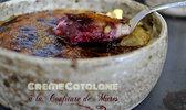 Crème catalane à la vanille et confiture de mûres sauvages