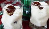Riz au lait écossais, whisky et pommes confites