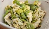 Salade de raie aux fèves