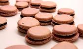 Macaron myrtille - chocolat blanc