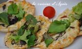 Pizza pita mozzarella truffe