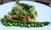 Risotto vert aux crevettes