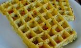 Gaufres de pommes de terre ciboulette emmenthal