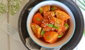 Tempeh mariné au gingembre, sauce clémentine aux épices douces