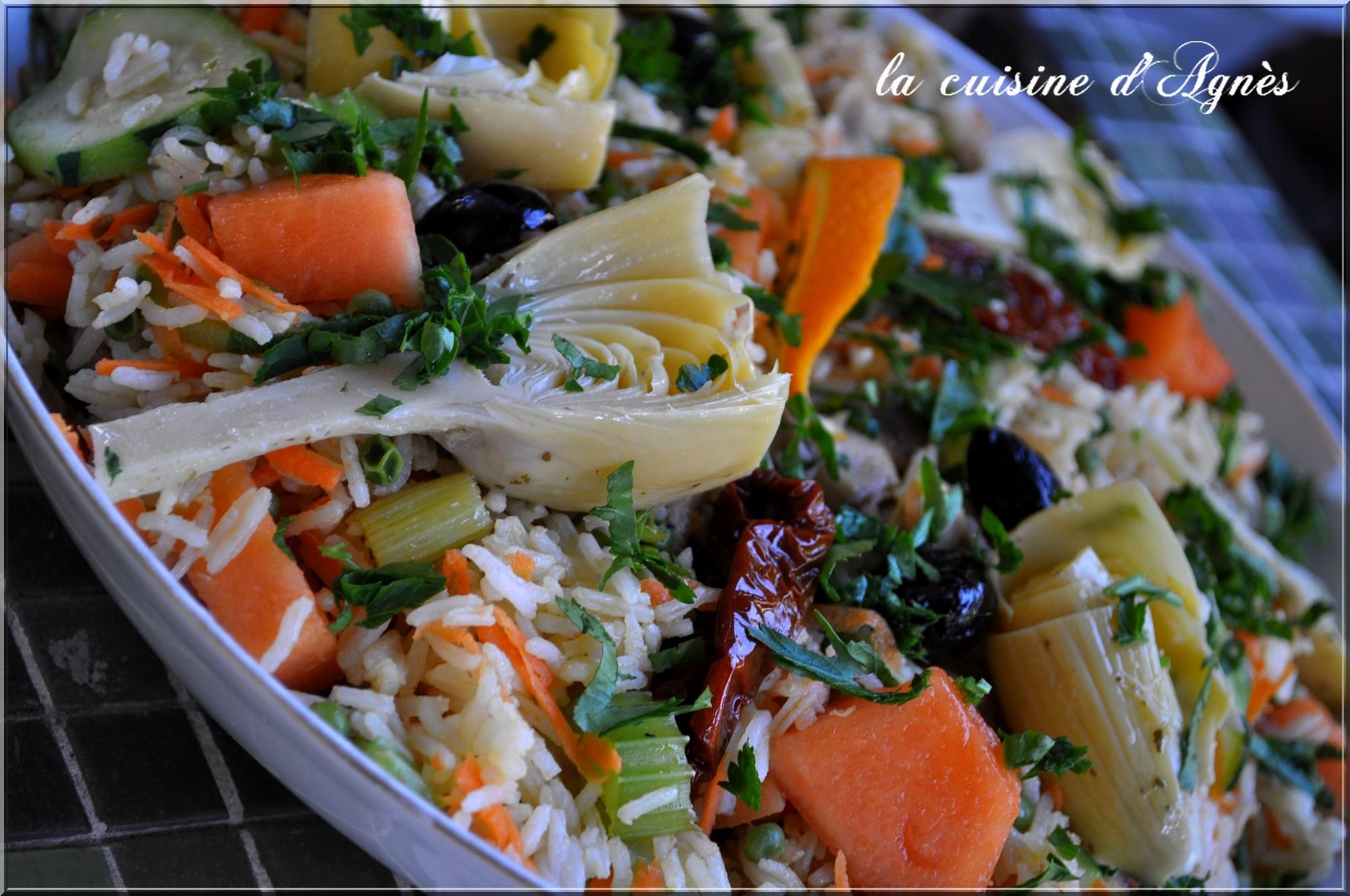 recettes de wok par la cuisine d 39 agnes salade ti de de riz aux l gumes nouilles saut es aux. Black Bedroom Furniture Sets. Home Design Ideas