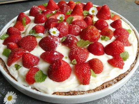 Tarte aux fraises et au mascarpone citronn sans cuisson - Cuisiner avec du mascarpone ...