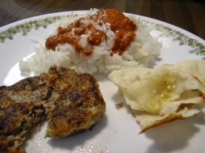 Fabuleux Shami (shaami) kebab, croquettes, brochettes de viande et pois  VA14