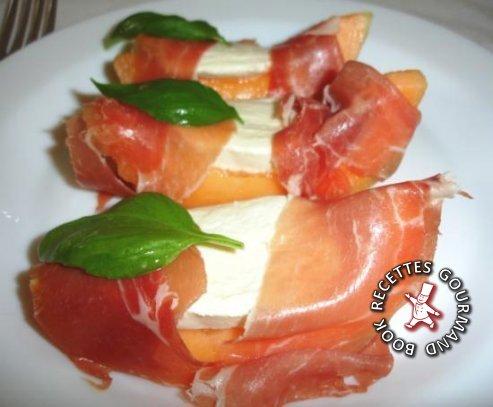 Melon l 39 italienne par book recettes gourmand for Entree froide original