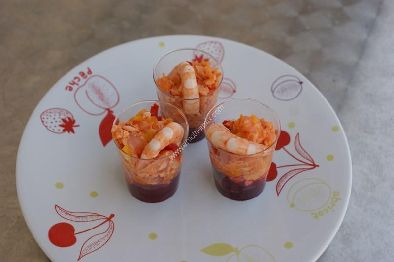 Verrines coulis de betterave avec son saumon fum et - Comment cuisiner les betteraves rouges ...