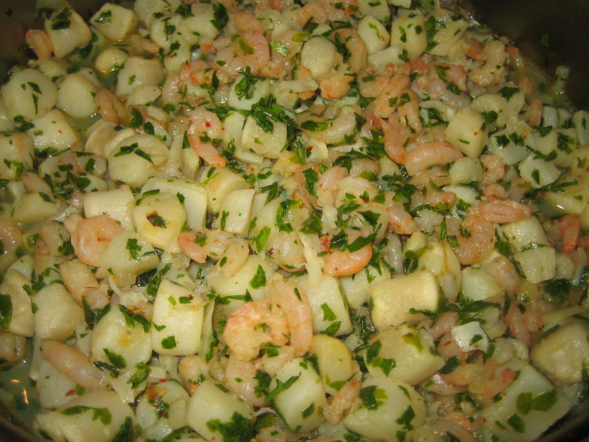 Po l e de noix de p toncles et crevettes persill es par for Overblog cuisine