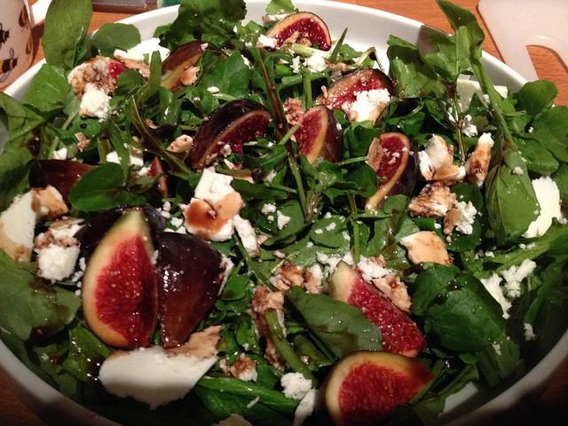 Salade compos e aux figues gorgonzola sauce yaourt miel moutarde et citron par cuisine maison - Salade verte composee ...