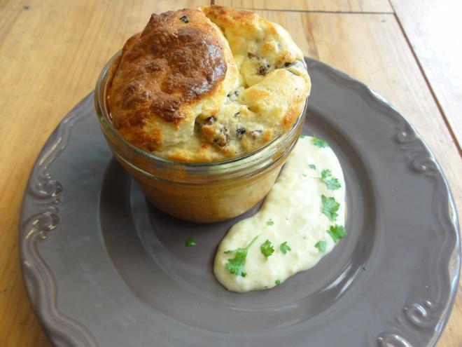 Souffl champignons la cr me d ail par sharing cuisine for Entree chaude original