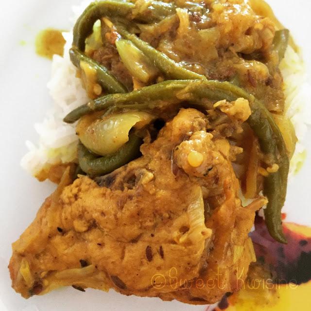 Recettes de haricots verts par sweet kwisine le colombo - Cuisiner les haricots verts ...