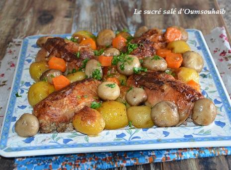 Cuisse de poulet farcie par sarah - Comment cuisiner les cuisses de poulet ...