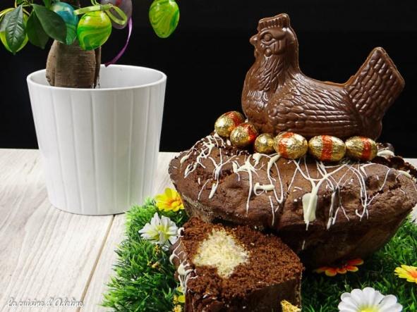 G teau au chocolat nid de p ques par la cuisine d 39 adeline - Recette nid de paques au moka ...