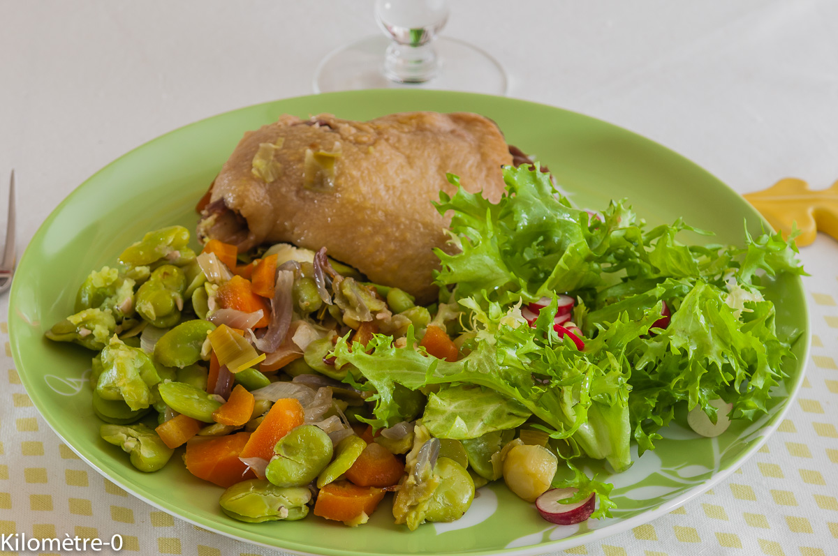 Confit de canard aux f ves par kilometre 0 - Cuisiner les feves fraiches ...