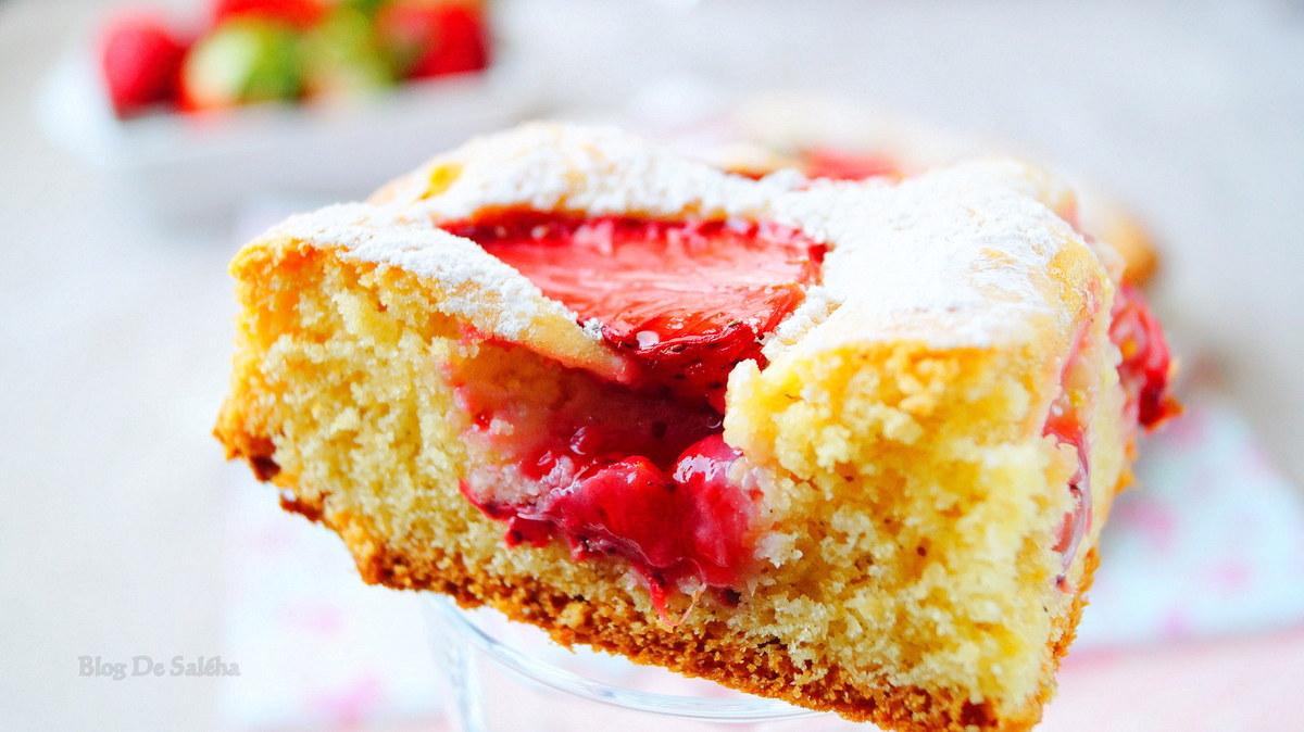 Gâteau Moelleux Aux Fraises Simple Et Rapide Recette Par
