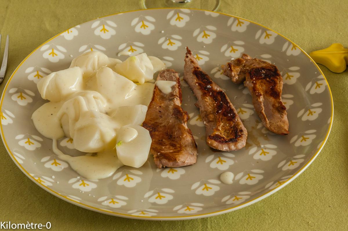 Aiguillettes de canard aux navets et la sauce blanche par kilometre 0 - Cuisiner les aiguillettes de canard ...