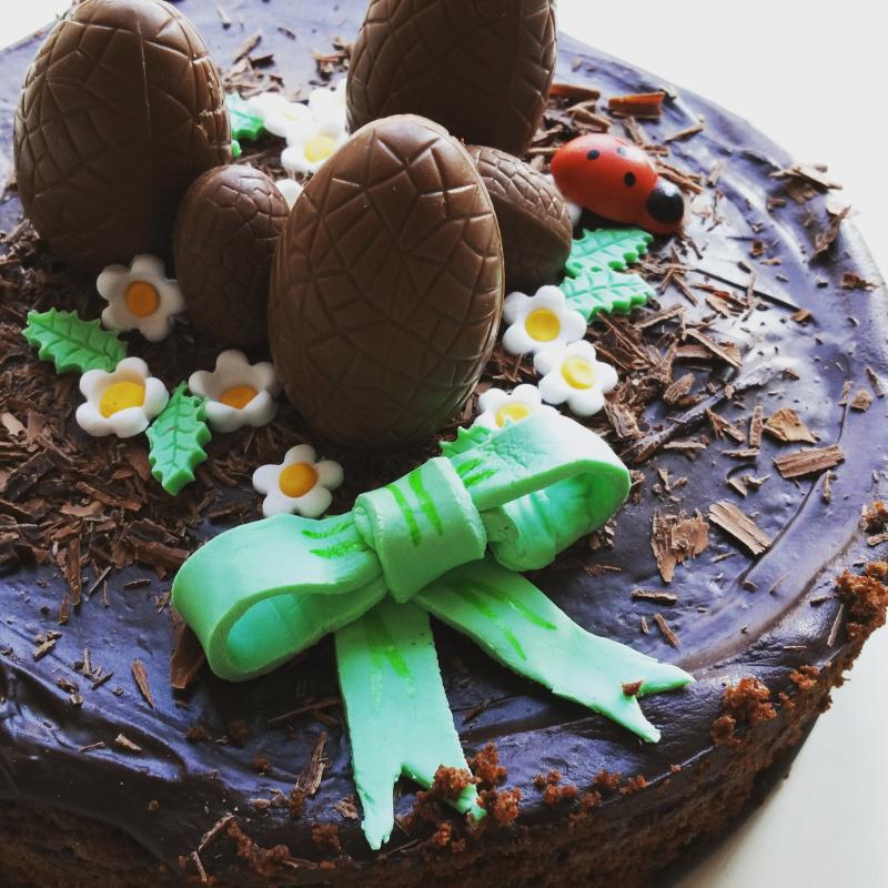 Recettes de p te sucre par laurence gateau au chocolat de p ques - Gateau pate a sucre paques ...