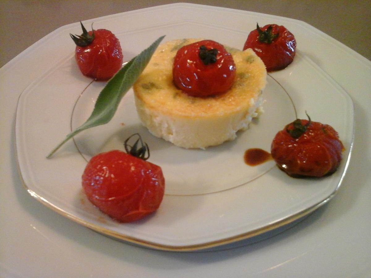 Recettes de tomate cerise par flan au parmesan et la sauge et sa farandole - Cuisiner les tomates sechees ...