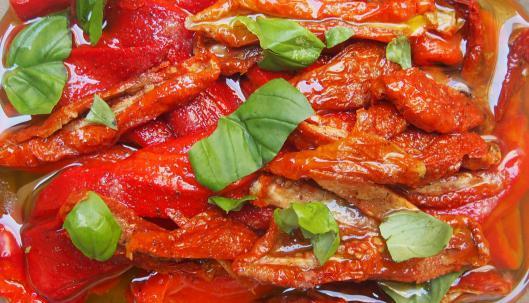 Recettes de poivrons grill s par cuisiner en paix poivrons grill s et tomates s ch es marin s - Cuisiner les tomates sechees ...