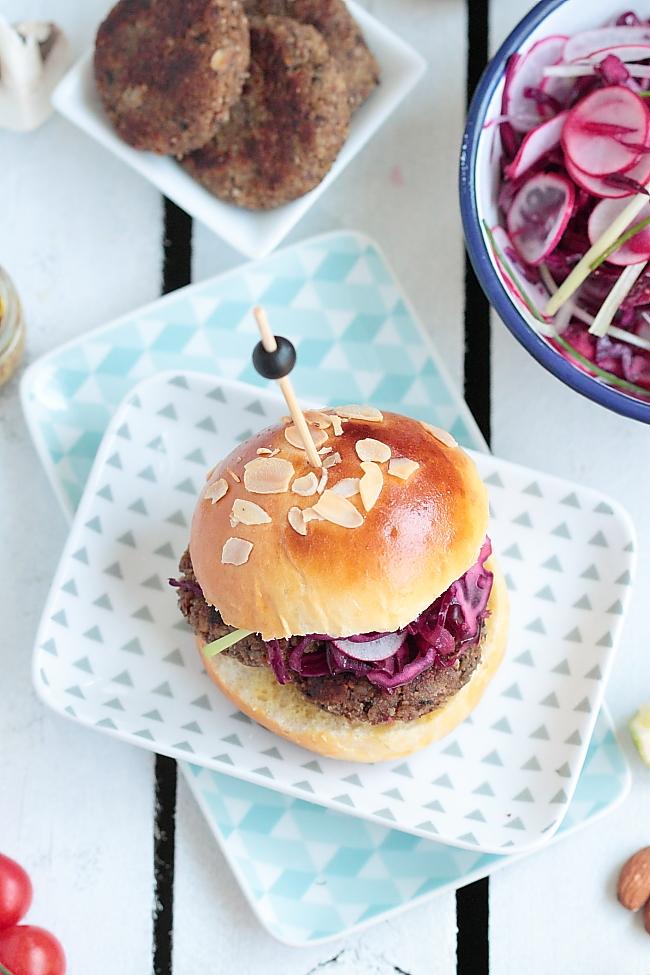 Recettes de cuisine v g tarienne par d lices hamburger for Cuisine vegetarienne