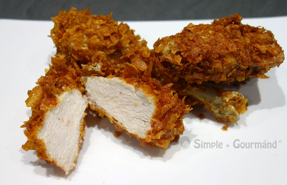 how to make fried chicken with corn flakes