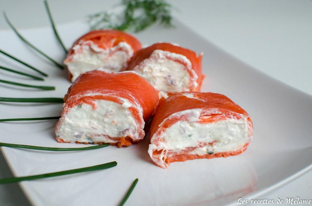 Roul de saumon au ch vre et la pomme par les recettes - Saumon gravlax rapide ...