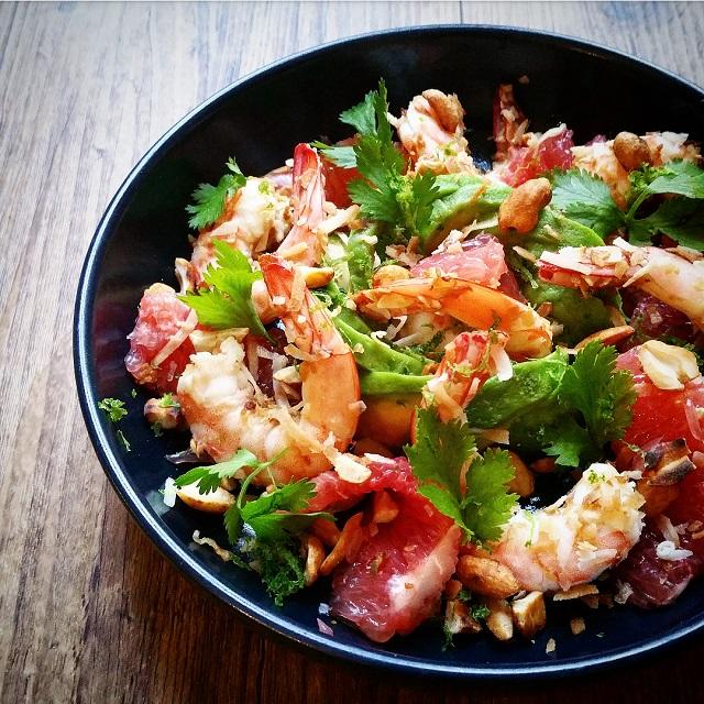 Bien-aimé Salade de crevettes et pamplemousse à la thaï - Recette par Gratinez QK03