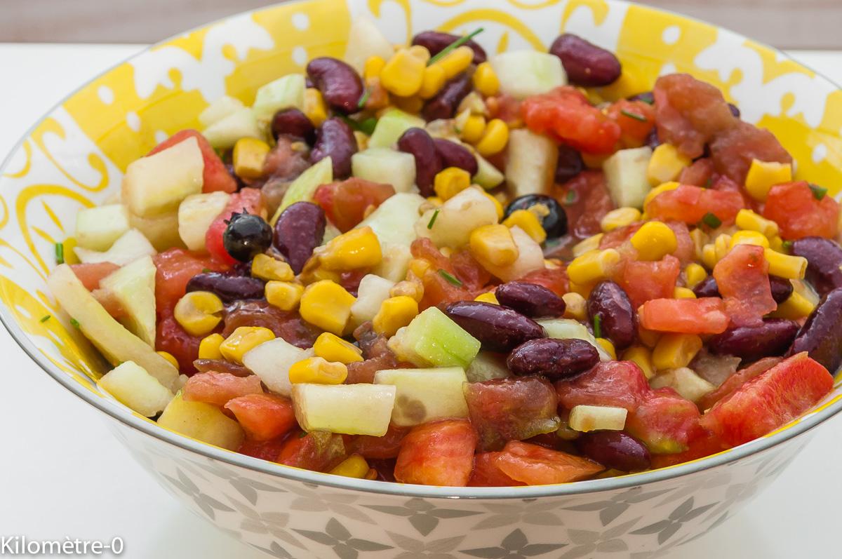 Recettes de salade compos e par kilometre 0 salade de tomates concombre haricots rouges et - Cuisiner des betteraves rouges ...