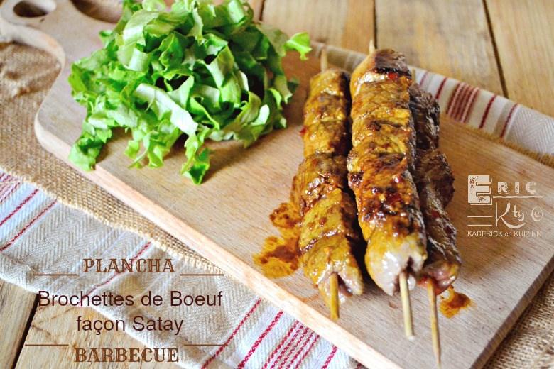 Brochettes de boeuf sauce satay la plancha par kaderick - Cuisiner le foie de boeuf ...