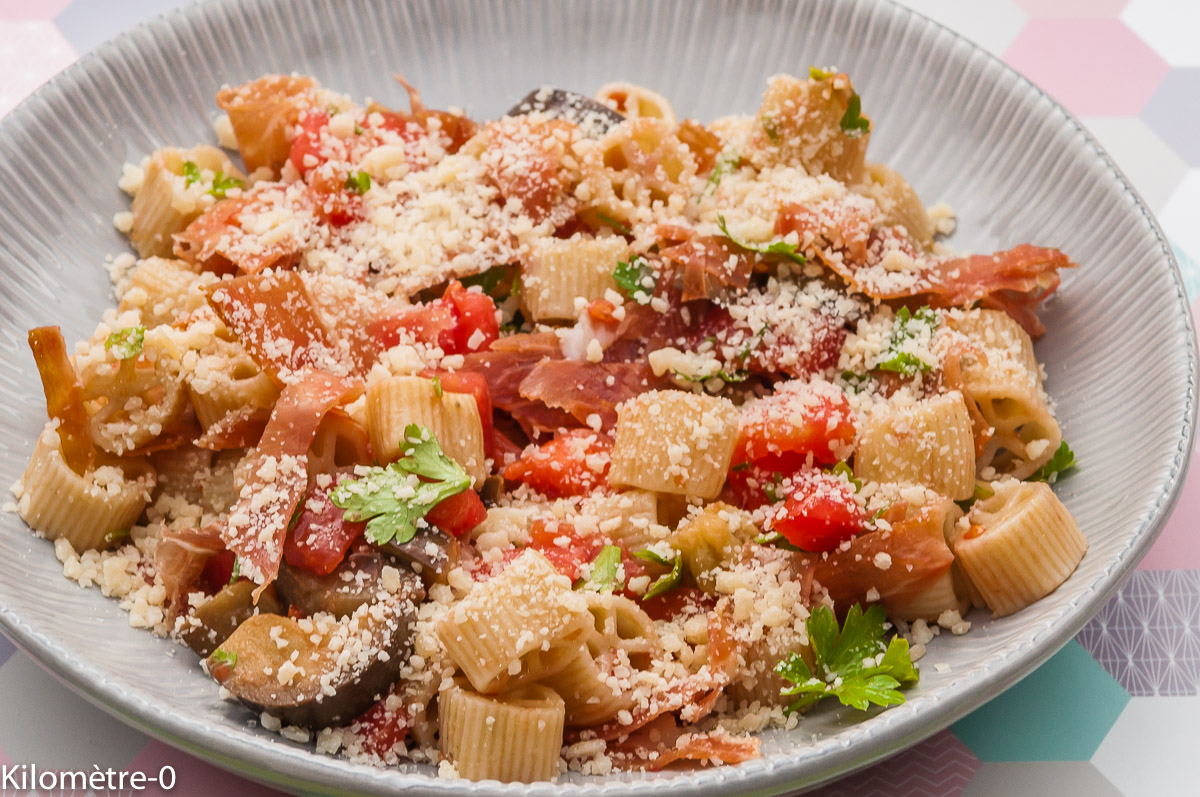 Recettes d 39 aubergines par kilometre 0 salade de p tes l 39 italienne ma moussaka taboul aux - Aubergine grillee a l italienne ...