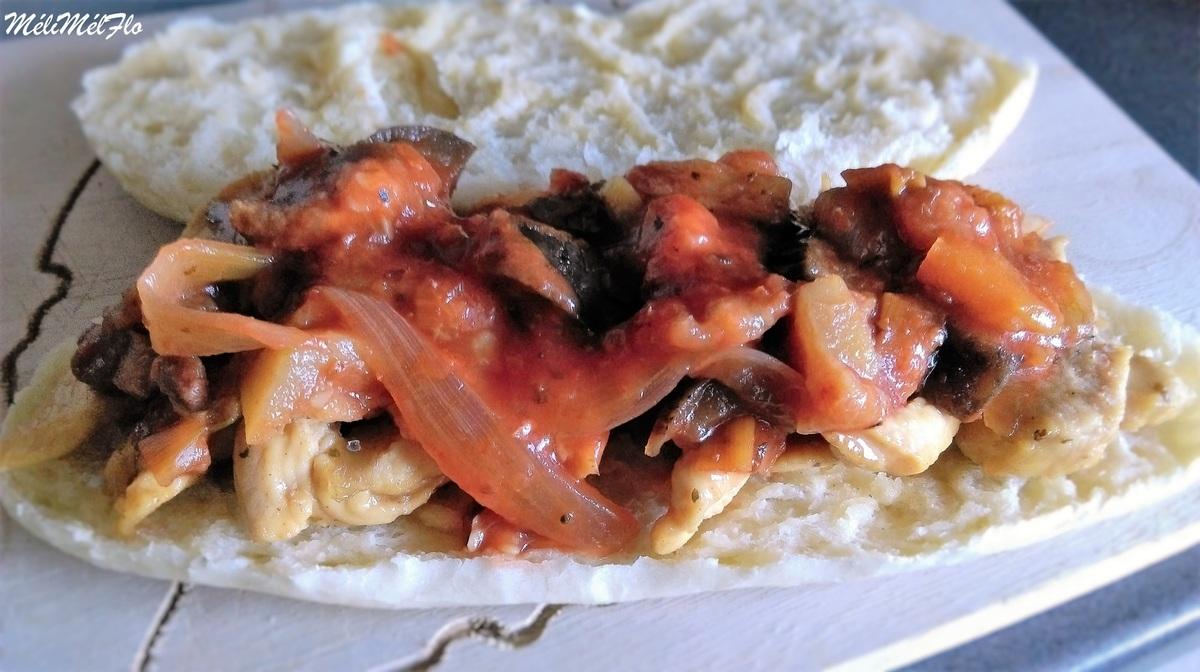 Sandwich poulet la ratatouille par m lim lflo - Cuisiner la ratatouille ...