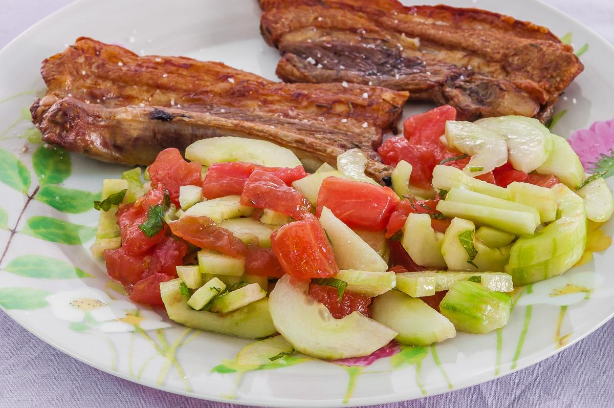 Travers de porc marin la grecque par kilometre 0 - Cuisiner travers de porc ...