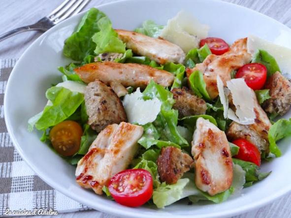 recettes de c sar par la cuisine d 39 adeline salade c sar avec ou sans anchois. Black Bedroom Furniture Sets. Home Design Ideas