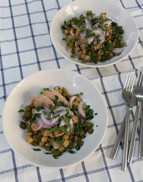 recettes de salade par diana bowl de pois chiches au. Black Bedroom Furniture Sets. Home Design Ideas