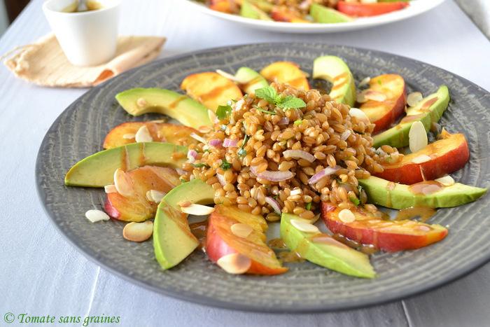 Recettes de brugnons par tomate sans graines salade - Cuisiner le petit epeautre ...