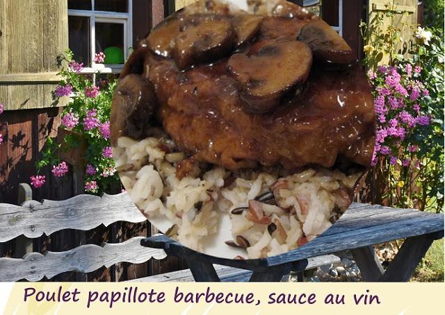 cuisses de poulet en papillotes au barbecue sauce au vin par cuisine maison d 39 autrefois comme. Black Bedroom Furniture Sets. Home Design Ideas