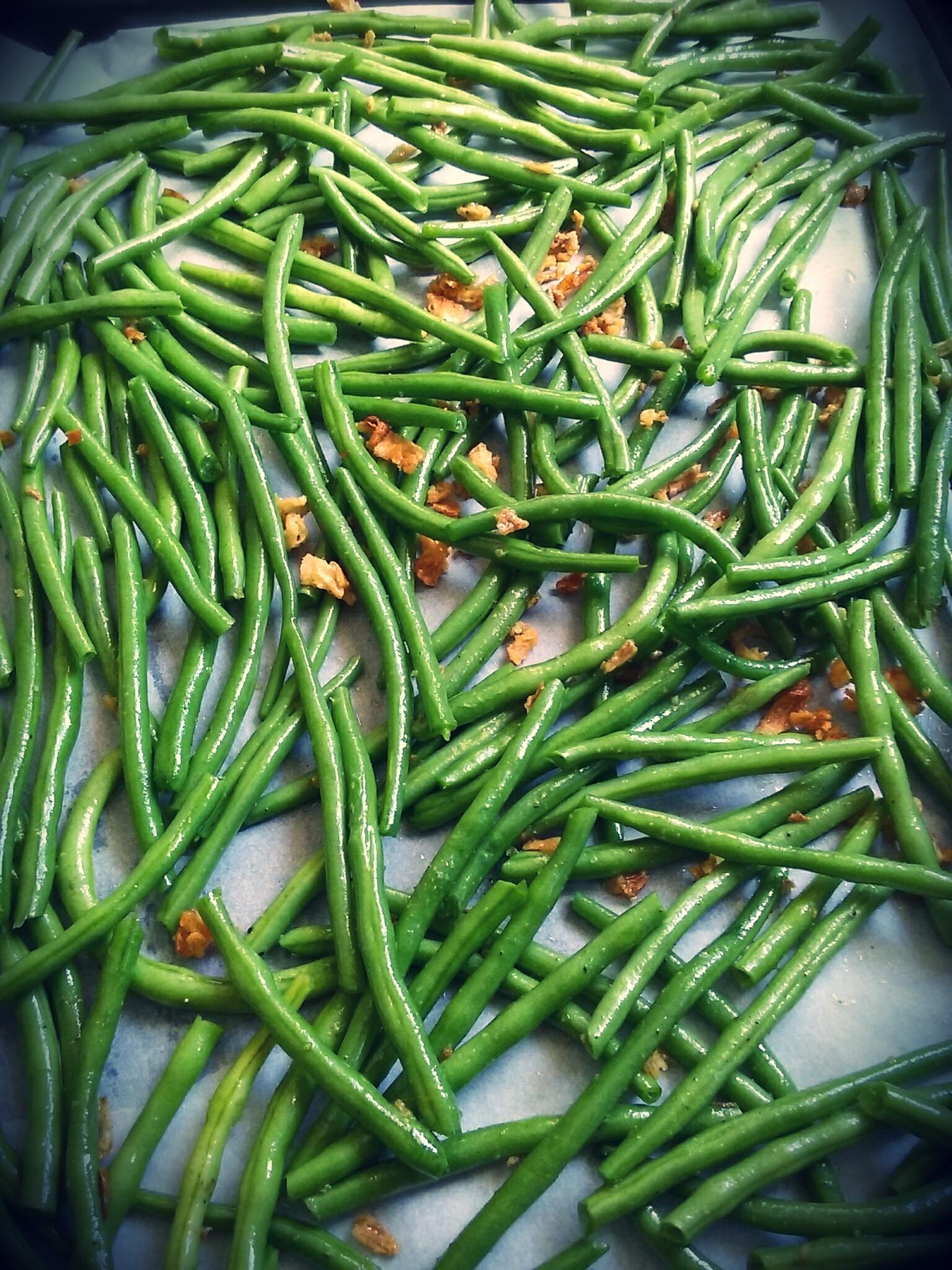 Haricots verts au four par chezcachou - Cuisiner les haricots verts ...