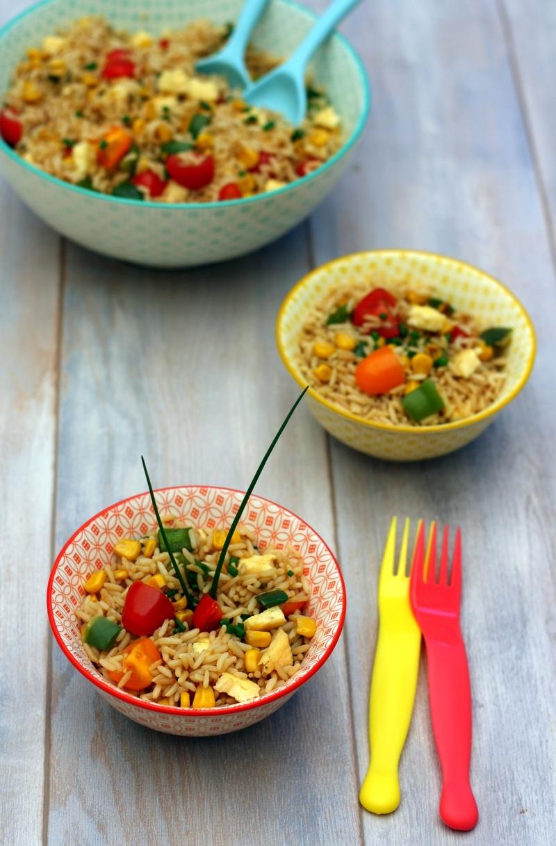 recettes d 39 omelette par amandine cooking salade de riz saut la sauce soja fa on tha une. Black Bedroom Furniture Sets. Home Design Ideas