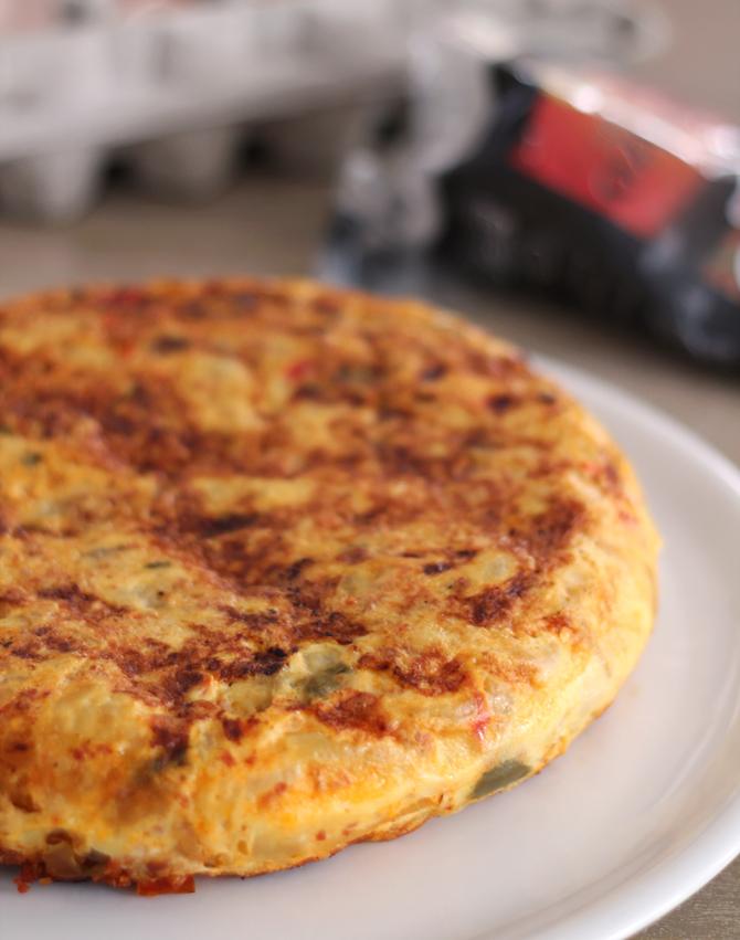 Tortilla poivrons chorizo par delizioso - Cuisiner les poivrons ...