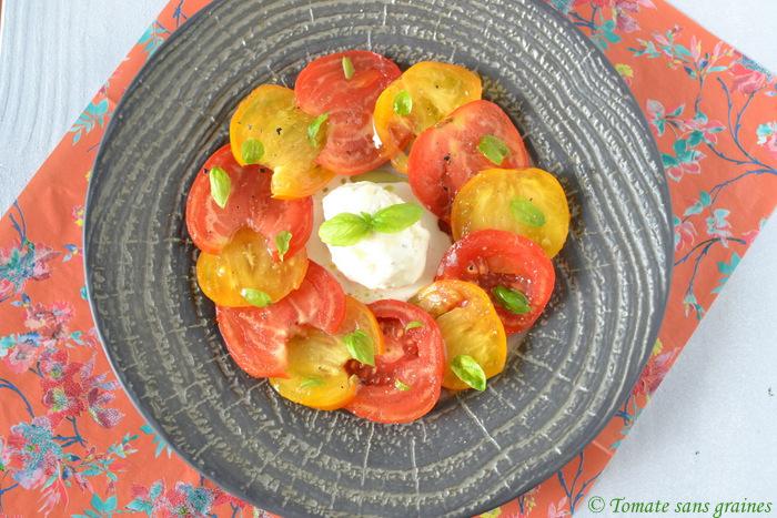 recettes de mozzarella par tomate sans graines carpaccio de tomates et sa glace mozzarella. Black Bedroom Furniture Sets. Home Design Ideas