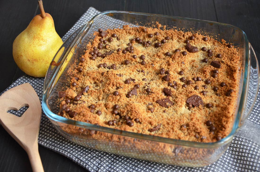 Crumble poire chocolat farine de ch taigne par turbigo - Cuisiner chataignes fraiches ...